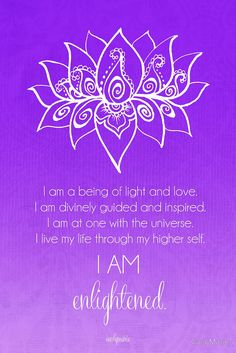 Crown Chakra Affirmation by CarlyMarie - beautiful chakra meditations (and other gorgeous work) you can have made into wall art, cards, etc at redbubble.