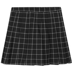 Checkered Pleated Skorts ($24) ❤ liked on Polyvore featuring skirts, mini skirts, high waisted skirts, golf skirts, checkerboard skirt, checked skirt and checkered skirt