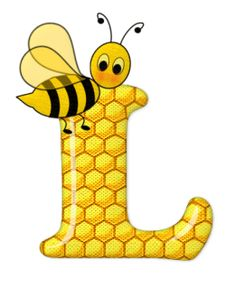 Alphabet letters bee on honeycomb. Bee Clipart, Bee Pictures, Scrapbook Letters, Spelling Bee, Bee Party, Cute Bee, Alphabet Design, Alphabet And Numbers, Alphabet Letters