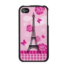 Eiffel Tower with Roses Speck Case by marlenedesigner