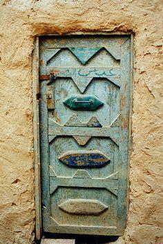 Door to mud house, Siwa Oasis, Egypt