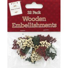 Buy Christmas Tree Wooden Embellishments - 32 pack  online from The Works. Visit now to browse our huge range of products at great prices.