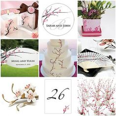 Cherry blossoms represent virtue and new beginnings.  Perfect for a wedding theme.