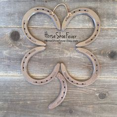 Horseshoe Clover. 4 Leaf Clover Handmade. Welded Art, HorseShoeFever on Etsy. Horseshoe Decor, Horseshoe Art, Western Home Decor, Rustic Decor, Silver, Irish, Ireland, Good Luck, Wall Art, Horses, Equine, Cowgirl, Cowboy, Country, Ranch, Farm, Gifts, Weddings, Photos