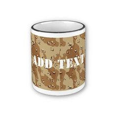 Desert Camouflage  Mugs by #Camouflage4you shipping to Loughborough, United Kingdom #camo #camouflage #military