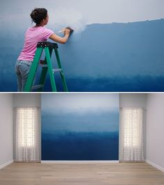 How To Paint a Beautiful Ombre Accent Wall Video