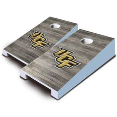 AJJCornhole NCAA 10 Piece Distressed Tabletop Cornhole Set NCAA Team: