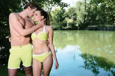 Twinning #jogswimwear #nature #limegreen #coupleoutfit #bikini #girlsinbikini #swimwear #summer2016 #funinthesun #cuts #artonbody #lasercuts #outinthenature #details