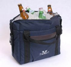 Personalized Soft-Sided Cooler with Embroidered Monogram Initials