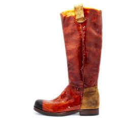 Art. 13/69, Boots in Vernice crust di colore Cuoio fodera in Vitello e fondo in Cuoio #Mauron1959 #Italy #shoe #woman #style #fashion #luxury