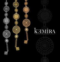 """Lo stile """"retrò"""" squisitamente italiano rende prezioso ed elegante ogni gioiello della collezione, in ottone galvanizzato, nei tre colori dell'oro, con pietre crystal. #kemiragioielli #madeinitaly #crystal #bijoux #bracciale #collana #collection #jewelry #trend #gioielli #jewels"""