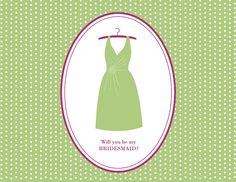 Will You Be My Bridesmaid Card - Free download and in the colours you choose #bridesmaidinvitation #bemybridesmaid