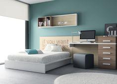 """Habitación juvenil del catálogo de mueble juvenil """"Kids Up2"""" de Muebles Ros. Senior"""