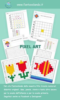 21st Century Skills, Art School, Pixel Art, Homeschool, Crafts For Kids, Coding, Activities, Mars, Alphabet
