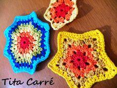 Muitas tentativas e muitas estrelas em crochet...