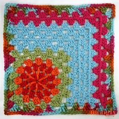 Moogly CAL 2018 Block 22 is pretty, relaxing, and fun to customize - and courtesy of Fiber Flux! Get all 24 free crochet patterns for 2018 free on Moogly! Moogly Crochet, Crochet Yarn, Free Crochet, Crochet Cushions, Crochet Pillow, Blanket Crochet, Free Knitting, Crochet Motif Patterns, Crochet Blocks