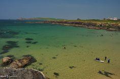 Swimmers at Treyarnon, Cornwall Cornish Beaches, Cornish Coast, Constantine Bay, Devon Life, Swimmers, Cornwall, The Rock, Swimming Pools, Natural Beauty