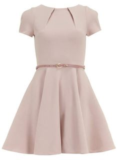 @dorothyperkins Closet Beige Cap Sleeve Flared Dress