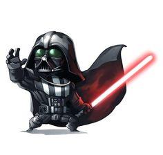 Cute Darth Vader.