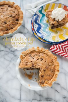 Chocolate Chip Pecan Cookie Pie - The Little Kitchen