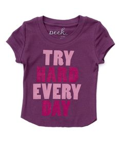 Baby Try Hard Everyday Tee - New In - Browse - baby girls | Peek Kids Clothing