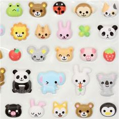kawaii animals sponge sticker Q-Lia from Japan 1