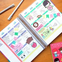 Erin Condren Life Planner - Fun with sticky notes!