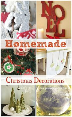 Homemade Christmas Decorations {our diy wooden reindeer + more} - Four Generations One Roof