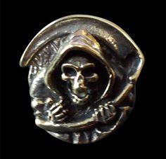 Bronze Grim Reaper Skull Ring from Jax Biker Jewellery by DaWanda.com