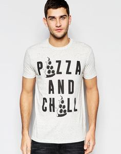 ASOS+Loungewear+Relaxed+Skater+T-Shirt+With+Print