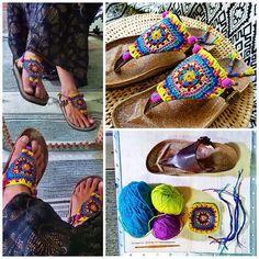 DIY * Granny Square Chic Sandals * | par AowDusdee