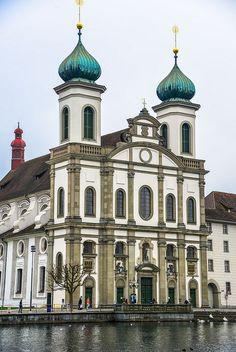 Jesuit Church in Lucerne Switzerland by mbell1975, via Flickr