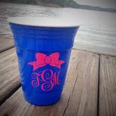 Monogrammed Reusable Solo Cup Personalized Insulated Beach By Tgcustomvinyldesigns On Etsy Https