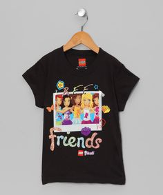 Take a look at this LEGO Black 'Friends' LEGO Friends Tee - Girls on zulily today!