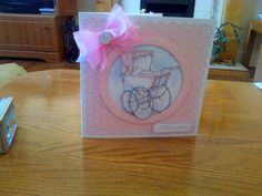 New baby girl card. Topper from Best of La Pashe 2014 Cd rom