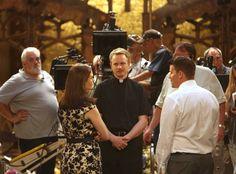 Emily Deschanel, David Hornsby & David Boreanaz from Bones Wedding Album