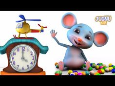 Hickory Dickory dock - Jugnu Kids Rhymes - Nursery Rhymes for Kids English Rhymes, Kids English, Kids Nursery Rhymes, Rhymes For Kids, Teaching Kids, Kids Learning, Reading Areas, Rhymes Video, Hickory Dickory Dock
