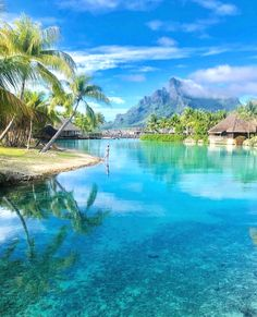 😍Bora Bora, French Polynesia - Mode Tutorial and Ideas Vacation Places, Dream Vacations, Vacation Spots, Romantic Vacations, Italy Vacation, Beautiful Places To Travel, Most Beautiful Beaches, Destination Voyage, Beaches In The World