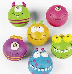 Monster Bash Relaxable Squeeze Balls.  Invade your Spooky or Monster party with these alien characters!