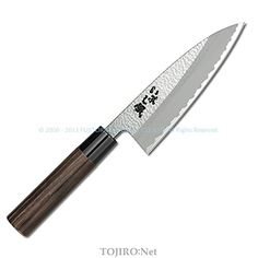 Japanese Kitchen Knife with Stainless Steel Blade and Chestnut Wood Handle ** More details @
