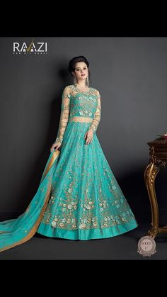 Stunning Skyblue Embroidered And Stone Work Heavy Net Anarkali Suit Bollywood Dress, Indian Bollywood, Pakistani Dress Design, Pakistani Dresses, Designer Anarkali, Embroidery Suits, Edgy Style, Traditional Outfits, Wedding Gowns