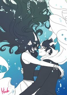 Lovely picture. I love Feferi's hair when she's underwater. Hair is nice underwater.