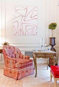 Living Room Decorating Ideas. Design by Charlotte Moss.