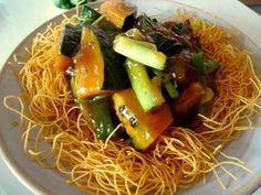 sara udon lunch sara udon crispy fried noodles with veggie ankake ...