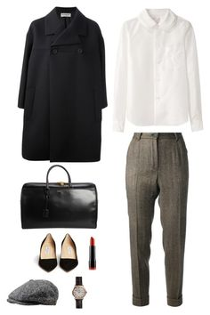 """""""Tommy Shelby"""" by stradlatersgirl ❤ liked on Polyvore featuring Dolce&Gabbana, Jimmy Choo, Balenciaga, Shinola, NYX, Yves Saint Laurent and Stetson"""