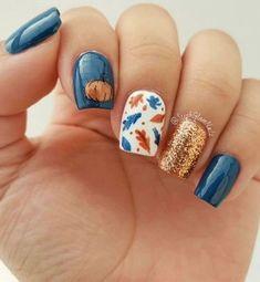 35 Υπέροχα φθινοπωρινά σχέδια για τα νύχια σου! | ediva.gr Classy Nail Designs, Fall Nail Art Designs, Nail Polish Designs, Acrylic Nail Designs, Nail Designs For Toes, Unique Nail Designs, Pretty Nail Designs, Colorful Nail Designs, Classy Nails
