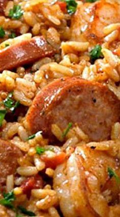 Enjoy some Creole comfort the quick and easy way with this Johnsonville creation. Using your favorite Jambalaya rice and Creole seasoning, add in some succulent shrimp, olive oil, tomatoes and hot pep Creole Recipes, Cajun Recipes, Rice Recipes, Casserole Recipes, Seafood Recipes, Dinner Recipes, Sausage And Shrimp Recipes, Soul Food Recipes, Andouille Sausage Recipes