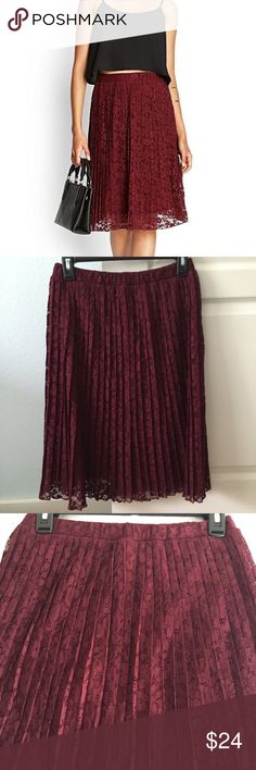 Accordion Pleated Skirt New without tags. No rips or tears and has an underskirt. Forever 21 Skirts