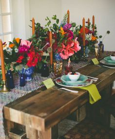 Summer Tabletop via Scout vermont wildflowers Centerpieces, Table Decorations, Dinner Table, Event Design, Tablescapes, Party Time, Sweet Home, Table Settings, Inspiration