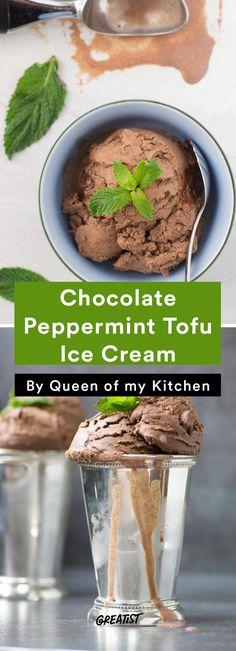Tofu Recipes: Chocolate Peppermint Tofu Ice Cream